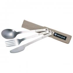 Прибор столовый SNOW PEAK Titanium Full Silverware Set