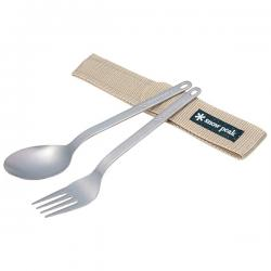 Прибор столовый SNOW PEAK Titanium Fork & Spoon Set