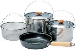 Набор посуды Snow Peak (2 кастрюли, сковорода, сито)