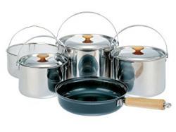 Набор посуды Snow Peak (3 кастрюли, сковорода, сито)
