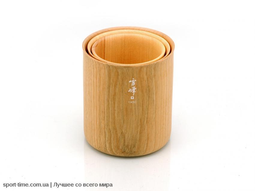 набор посуды Snow Peak Wooden Stacking Mug Set интернет магазин